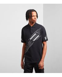 Fred Perry - Abstract Graphic Pique Polo Shirt - Lyst