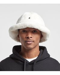 Kangol Faux Fur Casual Bucket Hat - White