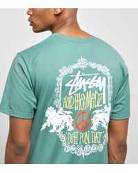 Stussy - Lion Shield T-shirt - Lyst