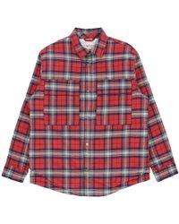 72bc1dac1b Fear Of God Denim-collar Checked Flannel Shirt in Green for Men - Lyst