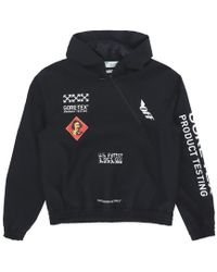 Off-White c/o Virgil Abloh - Logo Hooded Jacket - Lyst