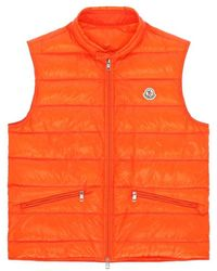 e1ba52a1bf53 Lyst - Moncler Gui Quilted Down Gilet in Red for Men