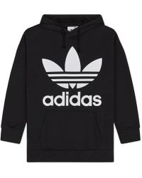 adidas Originals - Trefoil Oversized Hooded Sweatshirt - Lyst