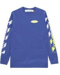 19a1ce19 Off-White c/o Virgil Abloh Diag Spray Zipped Sweatshirt in Black for Men -  Lyst