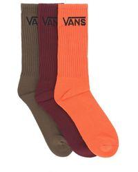 4a4b4ac5e3c5b9 Lyst - Vans 1 Pair Skate Crew Socks Heather Grey in Gray for Men