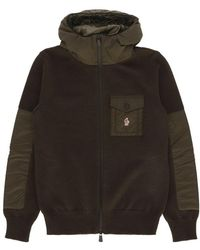 Moncler Grenoble - Zip Up Hooded Knit - Lyst
