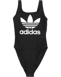 adidas Originals - Trefoil One Piece Swimsuit - Lyst