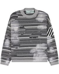 Off-White c/o Virgil Abloh - Destroyed Sweater - Lyst