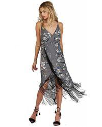 Cleobella - Zinnia Wrap Dress In Cloud - Lyst