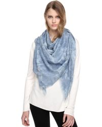 SOIA & KYO | Nisha Square Woven Scarf With Frayed Edges | Lyst