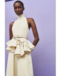 Solace London - Rosa Jumpsuit Ivory - Lyst