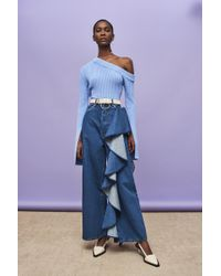 Solace London - Tay Jean Even Blue - Lyst