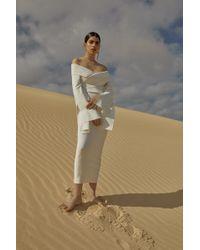 Solace London - Axelle Dress White - Lyst
