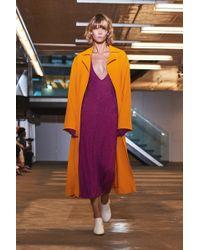 Solace London - Irina Trench Coat Yellow - Lyst