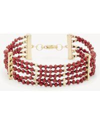 Sole Society - Beaded Line Bracelet - Lyst