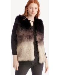 Sole Society - Ombre Faux Fur Vest - Lyst