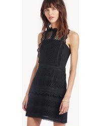 Greylin - Noelle Lace Mock Neck Dress - Lyst