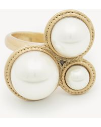Sole Society - Statement Pearl Ring - Lyst