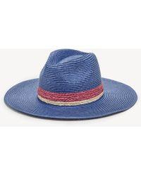 de94cce9466830 Sole Society - Wide Brim Straw Hat With Raffia Band - Lyst