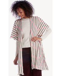 Sole Society - Knit Kimono W/ Lurex - Lyst