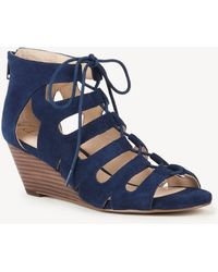 61e9d9859fe Sole Society - Freyaa Lace Up Wedge Sandal - Lyst