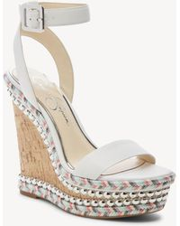 Jessica Simpson - Alinda Ankle Strap Platform Wedge - Lyst