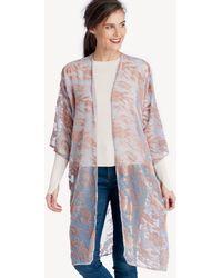 Sole Society - Printed Velvet Kimono - Lyst