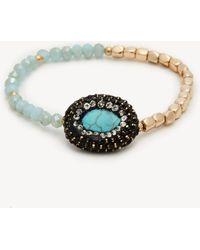 Sole Society - Stone Beaded Stretch Bracelet - Lyst