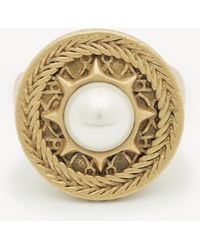 Sole Society - Statement Ring With Sun And Pearl - Lyst