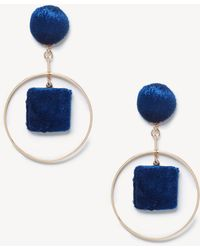 Sole Society Womens Le Gala Velvet Statement Earrings Emerald One Size From Sole Society cX2H7QVQMI