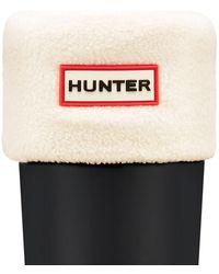HUNTER - Tall Fleece Welly Socks - Lyst