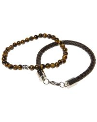 Simon Carter - Twin Leather And Bead Bracelets - Lyst
