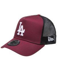 50040d4dd0a Ktz Ny Yankees Emblem A Frame Trucker Cap in Black for Men - Lyst