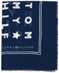 Tommy Hilfiger - Logo Story Scarf - Lyst