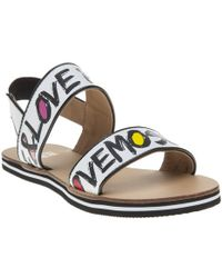 Love Moschino | 2 Strap Love & Peace Sandals | Lyst