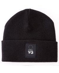 Y-3 - Logo Beanie - Lyst