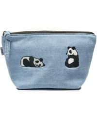 Soludos - Jason Polan Panda Embroidered Zip Pouch - Lyst