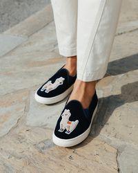 Soludos - Velvet Llama Sneaker - Lyst
