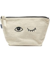 Soludos - Jason Polan Wink Embroidered Zip Pouch - Lyst