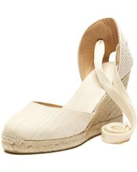 40f1a9c659c Soludos - Linen Espadrille Tall Wedge Sandal - Lyst