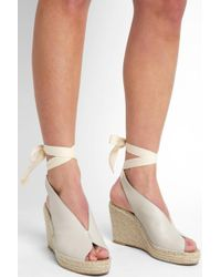 South Moon Under - Espadrille Ankle Tie Wedge - Lyst