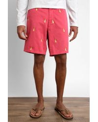 South Moon Under - Cisco Bottle Lime Embroidered Shorts - Lyst