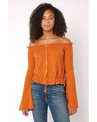 Sky - For Love Off The Shoulder Top - Lyst