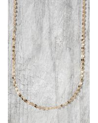 South Moon Under - Sequin Chain Necklace - Lyst