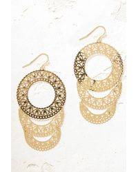 South Moon Under - Filigree Layered Open Circle Drop Earrings - Lyst