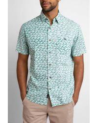 South Moon Under - Short Sleeve Button Down Coast Shirt Wave Print - Lyst