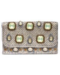 South Moon Under - Beaded Stone Foldover Clutch - Lyst