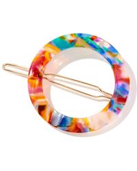 South Moon Under - Resin Multicolor Circle Clip - Lyst