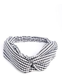 South Moon Under - Gingham Twist Front Turban - Lyst