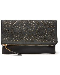 South Moon Under - Foldover Perforated Clutch - Lyst